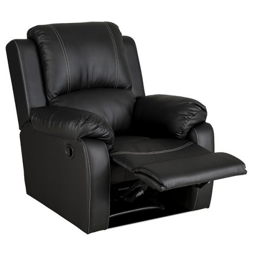 bellair pu black recliner
