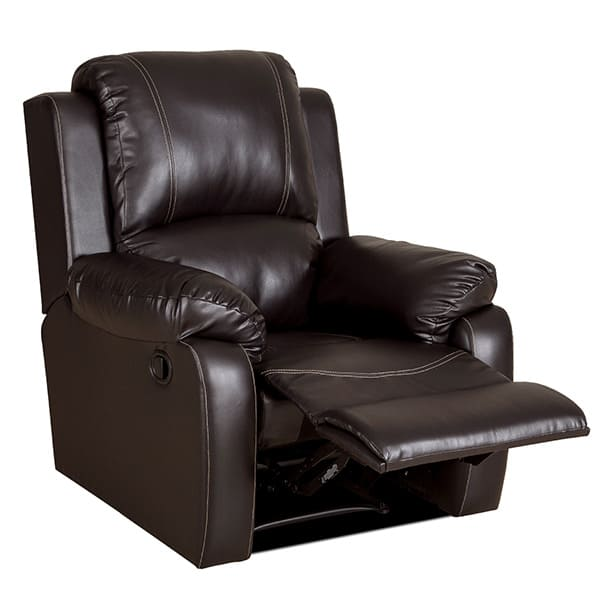 bellair pu brown recliner