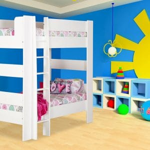 chelsea white bunk bed