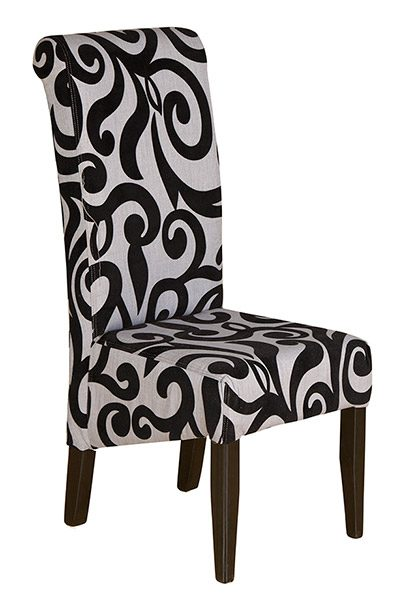 scroll black chair