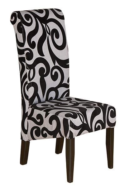 scroll black chair