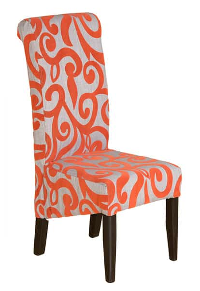 scroll orange chair