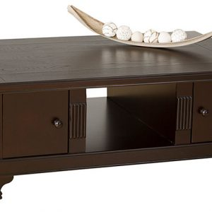 tiffany coffee table brown
