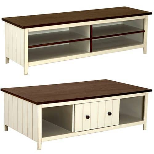 belize coffee table tv stand