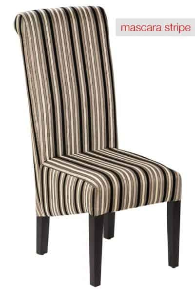 Hyatt Chair Mascara Stripe