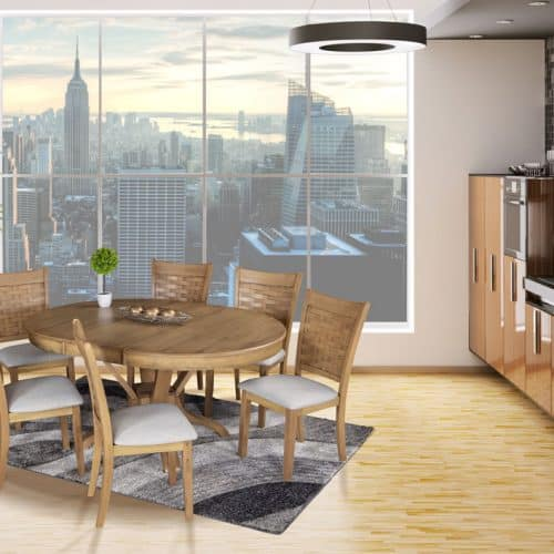 Belfast extension dining table and chairs