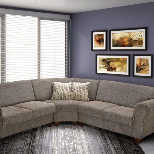 libra corner couch grey