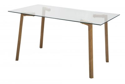 manhattan rectangular glass top dinette dining table