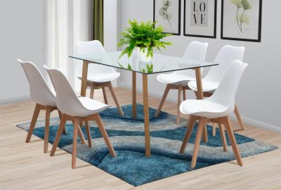 manhattan rectangular table bali chairs