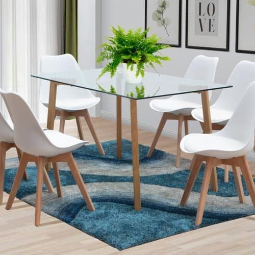 manhattan rectangular table bali chairs