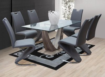 naverone glass table zara chairs